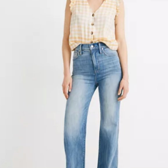 """Madewell 11"""" High-Rise Flare Jeans Arbordale Wash"""